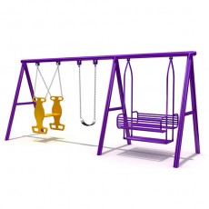 Trustworthy certificate outdoor slides and swings for children (LJS-018)