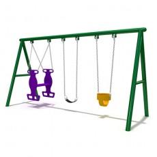 Low cost adventure hottest playground swing set(LJS-013)