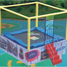 TUV certificate  colorful latest commercial trampoline for sale   12178A