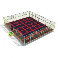 CE Large Design Combined Indoor Trampoline Beds Trampoline TP1502-5