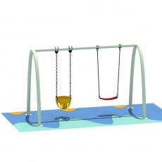 Marketable new type latest swing set equipment (QQ1501-7)