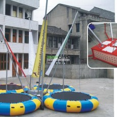 fashionable novelty spacious fitness trampoline with handle   12175A