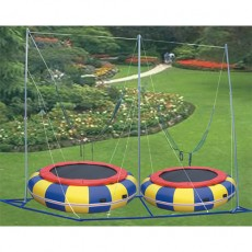 durable 2 in 1 classic funny bungee trampoline 12174E