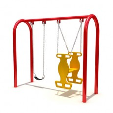 Daycare attractive entertainment slide and swing  (LJS-014)
