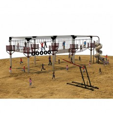 Kids Outdoor Body Building Equipment Adventure Rope Course TZ1402-4