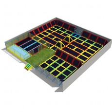 CE Large Design Combined Indoor Trampoline Beds Trampoline TP1503-1