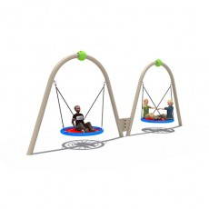 Active promotional suitable plastic swings for kids (LJS-1505)
