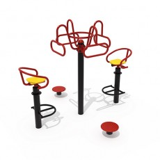 Double Seated & Stand up Hip Twister Outdoor Fitness Equipment(14106)