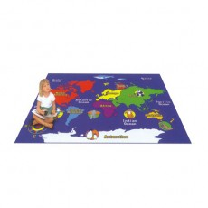 build your own play gym new designer  effective  world map  carpet  G1291-14