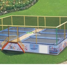 Practical backyard wide area Exercise bungee trampoline 12177D