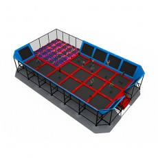 Competitive inexpensive salable hotable indoor trampoline gym (TP1506-7)