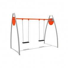 Natural high strength different outdoor play swing set (LJS-1507)