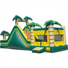 CE Lovely Style coconut tree Shape Jumping Castle Inflatable Slide bouncy C1228-5